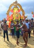 Ganeshafestival India Stock Afbeeldingen