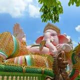 Ganeshastandbeeld, de Hindoeïsmegod in Openbare Heilige Plaats Stock Afbeeldingen