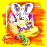 Ganesh的Chaturthi Ganapati阁下背景 免版税库存照片