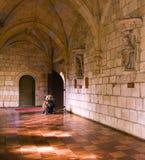 Gang 3 van het klooster stock fotografie