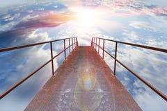 Gang aan hemel vector illustratie