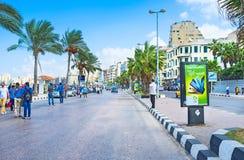 Gang in Alexandrië Stock Afbeelding