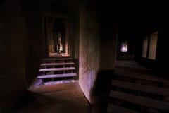 Gang in Angkor Wat, Kambodja Stock Foto