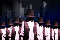 Gang of bandits Stock Images