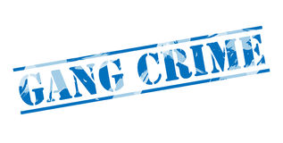 Gang crime blue stamp. On white background Stock Photo