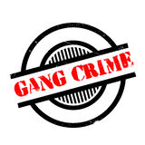 Gang Crime rubber stamp. Grunge design with dust scratches. Effects can be easily removed for a clean, crisp look. Color is easily changed Stock Image
