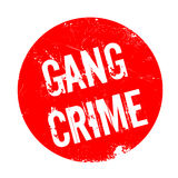 Gang Crime rubber stamp. Grunge design with dust scratches. Effects can be easily removed for a clean, crisp look. Color is easily changed Stock Photos