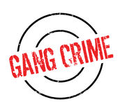 Gang Crime rubber stamp. Grunge design with dust scratches. Effects can be easily removed for a clean, crisp look. Color is easily changed Royalty Free Stock Photography