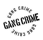 Gang Crime rubber stamp. Grunge design with dust scratches. Effects can be easily removed for a clean, crisp look. Color is easily changed Stock Images