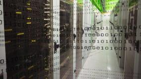 Gang en binaire codes stock footage