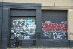 Gang graffiti on a wall in Portland, Oregon stock photo