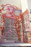 Gang Graffiti after riots, South Central Los Angeles, California Royalty Free Stock Image