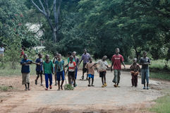 Gang of kids, Africa, Zimbabwe Stock Image