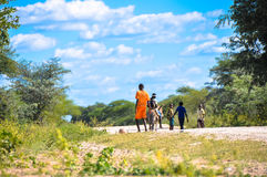 Gang of kids, Africa, Zimbabwe Royalty Free Stock Photo
