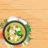 Gang Kiew Wan ,Thai green curry in coconut milk Stock Photo
