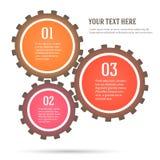 Gang-Konzept-Mechaniker-infographics-flach-ähnlich Lizenzfreies Stockbild