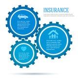 Gang-Konzept-von-Versicherung-infographics-flach-ähnlich Lizenzfreies Stockbild
