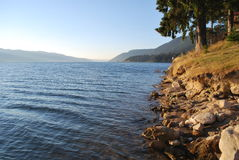 gang langs het meer stock fotografie