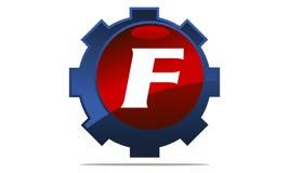 Gang Logo Letter F Stockfotografie