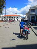 Gang met fiets stock fotografie