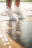 Gang op het strand Stock Afbeeldingen