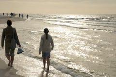 Gang op strand Royalty-vrije Stock Afbeeldingen
