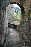Gang in oud kasteel Stock Foto's