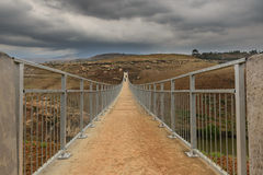 Gang over brug Zuid-Afrika Stock Fotografie