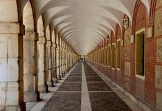 Gang in Royal Palace van Aranjuez royalty-vrije stock fotografie