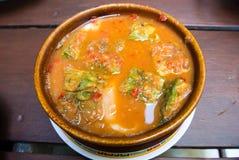GANG SOM CHA OM TOD KUB KOONG Bowl / Hot Pot Stock Images