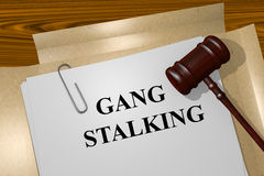 Gang Stalking concept Royalty Free Stock Photography