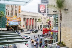 Gang van bekendheidsstraat in Los Angeles Californië Verenigde Staten Royalty-vrije Stock Afbeeldingen