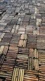 Gang van kleibakstenen die wordt gemaakt Royalty-vrije Stock Foto's