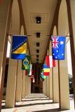 Gang van vlaggen Royalty-vrije Stock Afbeelding