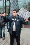 Gang van Vrede, Moskou, Rusland stock foto's
