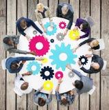Gang-Verbindung Unternehmens-Team Teamwork Meeting Concept Stockbild