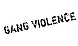 Gang Violence rubber stamp. Grunge design with dust scratches. Effects can be easily removed for a clean, crisp look. Color is easily changed Stock Images
