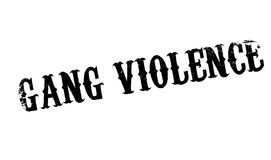 Gang Violence rubber stamp. Grunge design with dust scratches. Effects can be easily removed for a clean, crisp look. Color is easily changed Royalty Free Stock Image