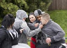 gang walczące młodość Zdjęcia Royalty Free