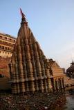 Ganga. Type from the river Ganges on coastal buildings, India, Varanasi Stock Photography
