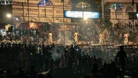Ganga Aarti Banaras royalty-vrije stock afbeelding
