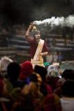 Ganga Aarti ceremony Stock Photos