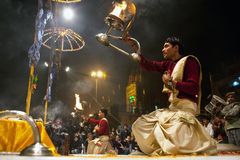 Ganga Aarti ceremony Stock Image