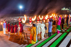 Ganga Aarti ceremony Stock Photography