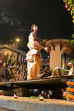 Ganga Aarti Ceremony in Varanasi Stock Image