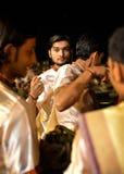 Ganga Aarti Ceremony in Varanasi Royalty Free Stock Image