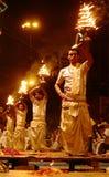 Ganga Aarti en Varanasi Imagen de archivo