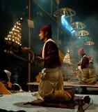 Ganga Aarti Stock Images