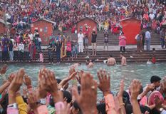 Ganga Aati at Haridwar, India Stock Image
