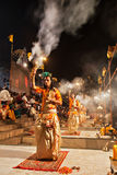 Ganga Aarti ritual Royalty Free Stock Photo